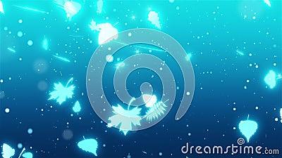 Zimna późna jesień Wróżki jesienne powoli opadają Pierwsza animacja śniegu i mrozu 3D zbiory wideo