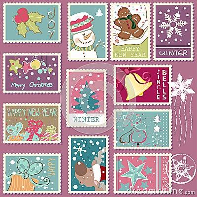 Zimy opłaty pocztowa set