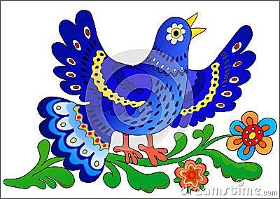 Zing blauwe vogel