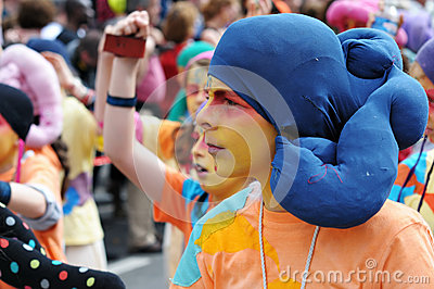 Zinneke Parade 2012 in Brussels Editorial Stock Image