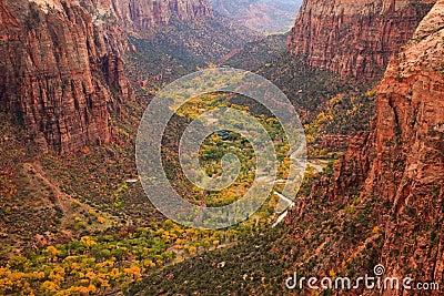 Zion Canton Aerial Vista
