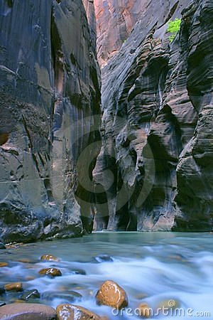 Zion Narrows Wall Street