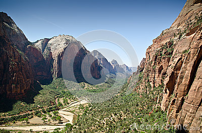 Zion national park valley