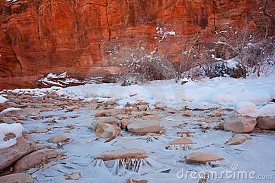 Zion National Park Winter Scene