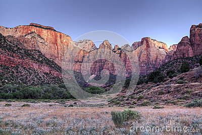 Zion Rock Formation at Sunrise