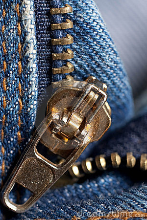 Zip on jeans