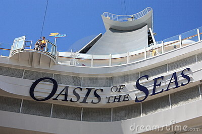 Zip line on board the oasis of the seas Editorial Stock Image
