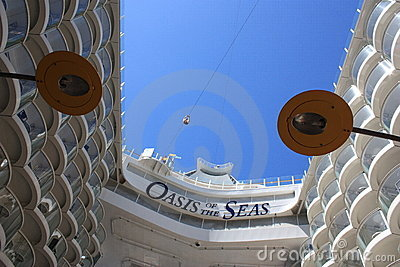 Zip line on board the oasis of the seas Editorial Photography