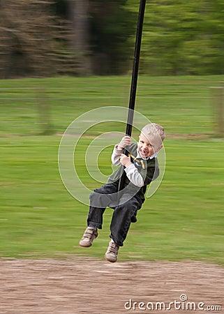 Zip-line Child