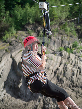 Free Zip Line Terror Royalty Free Stock Photos - 40680278
