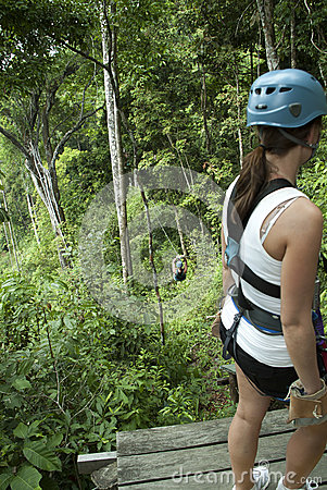 Zip Lining Costa Rica Editorial Stock Image