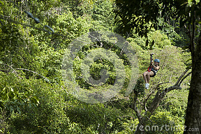 Zip Lining Editorial Image