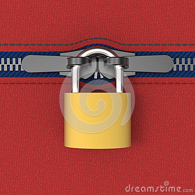 Zip locked by padlock