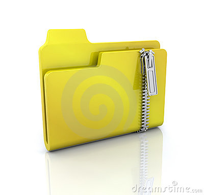 Free Zipped Folder Icon Stock Photos - 7692793