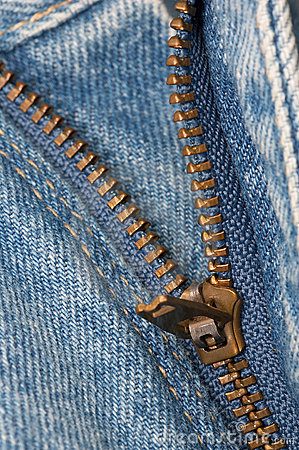Zipper Denim Jeans Macro