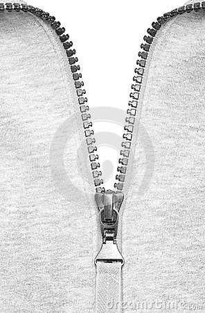 Zipper half closed