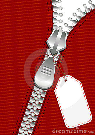 Zipper with tag