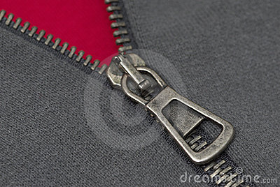 Zipper thread and textile