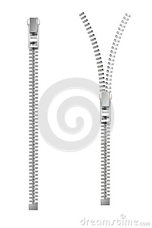 Free Zipper. Vector Illustration Royalty Free Stock Photo - 35167285