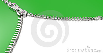 Zipper on white background