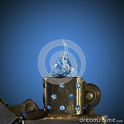 Free Zippo Lighter Royalty Free Stock Photography - 46903457