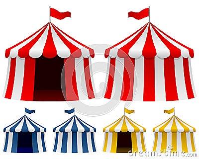 Zirkus-Zelt-Ansammlung
