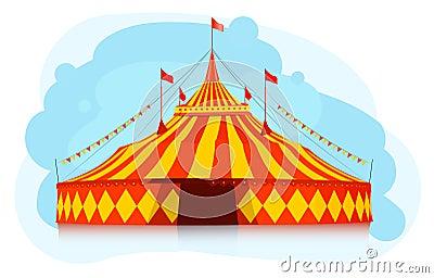 Zirkuszelt der großen oberseite stockbilder