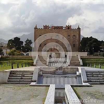 Zisa του Παλέρμου Σικελία κάστρων