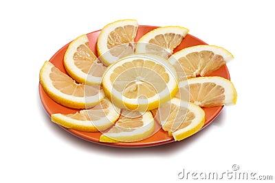 Zitrone in der Platte