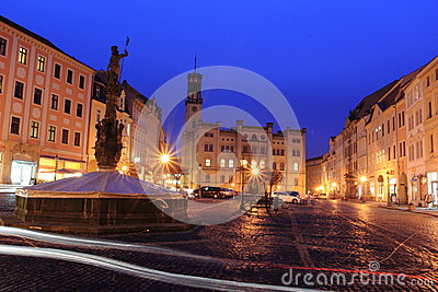 Zittau at night Editorial Stock Image