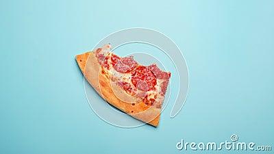 Zjadliwy wyśmienicie pizz pepperoni plasterek zbiory wideo