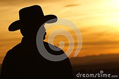 Zmierzch kowbojska Sylwetka