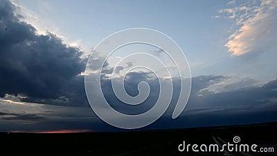 Zmierzch przez chmur zbiory wideo