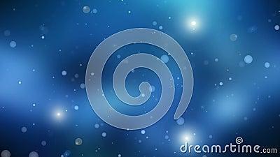 Zmrok - błękitny wszechświat, loopable ilustracji