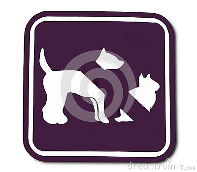 Znak zabraniający zwierze domowe