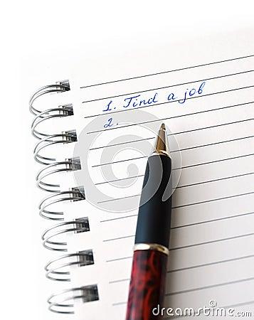 Znaleziska handwriting pracy papieru biel