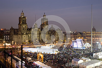 Zocalo and Cathedral of Mexico city