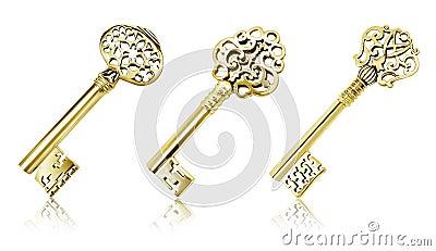 Złociści klucze