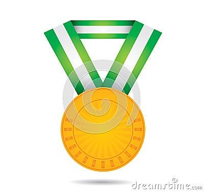 Złocisty sporta medal