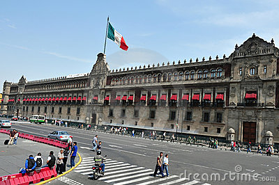 Zocolo in Mexico City Editorial Stock Image