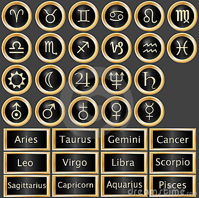 Zodiac Astrology Web Buttons