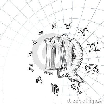 Zodiac Background Virgo