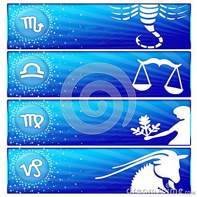 Zodiac banner set (01)