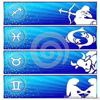 Zodiac banner set (02)