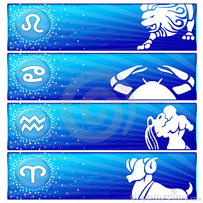 Zodiac banner set (03)