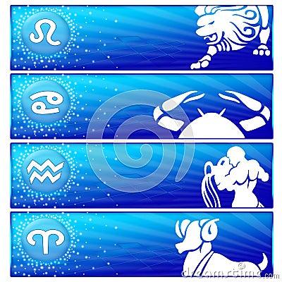 Free Zodiac Banner Set (03) Stock Images - 12860474