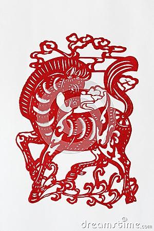 Zodiac Chinese Paper-cutting (Horse)