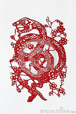 Zodiac Chinese Paper-cutting (Snake)