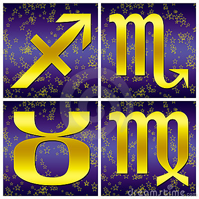 Zodiac gold sign (03)