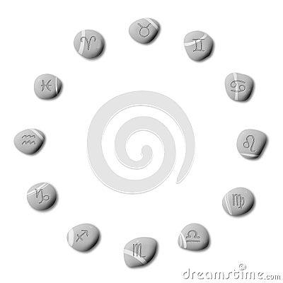 Zodiac pebbles